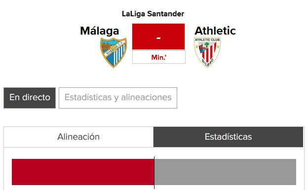 Málaga - Athletic: partido de Liga 2017-18./