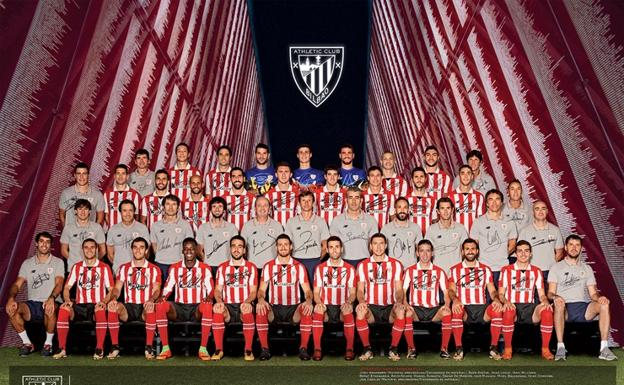 Póster oficial del Athletic 2017 - 2018./