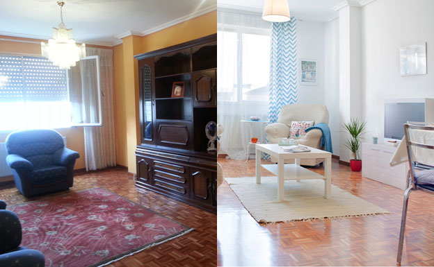 Un salon reformado con criterios de 'home staging'./Casas a Punto