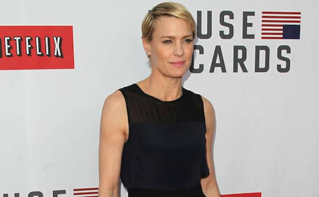La actriz Robin Wright, de 'House of Cards'.