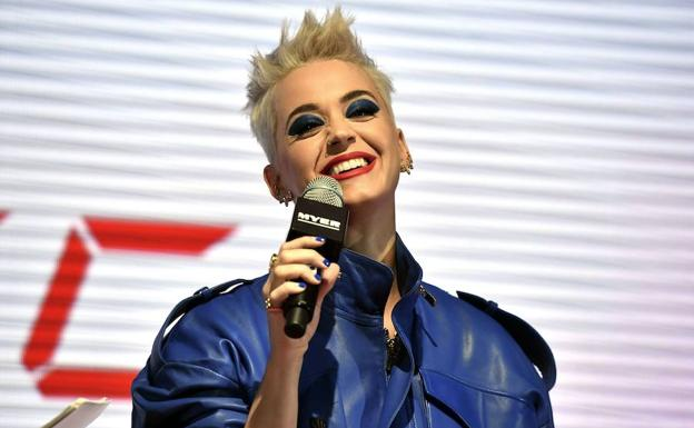 Katy Perry en Myer Sydney City en Sydney.