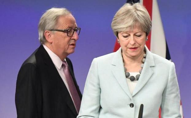 Juncker y May, en Bruselas.