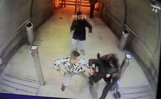Agresión en el metro de Abando./E. C.