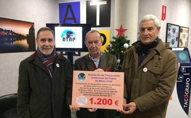 ATAP dona 1.200 euros a los afectados de ELA