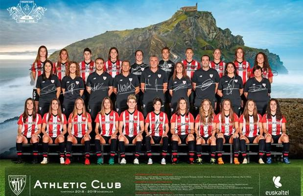 La actual plantilla del Athletic femenino.