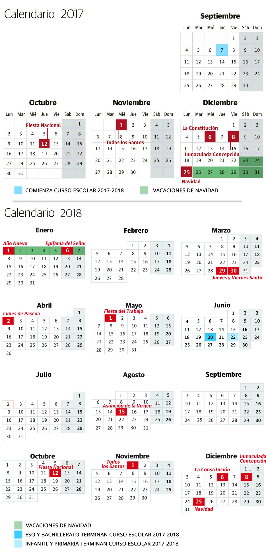 Calendario Escolar Valladolid.Calendario Escolar 2017 2018 En Euskadi El Correo