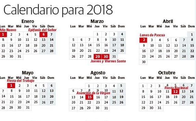 Calendario Laboral Comunidad Valenciana.Calendario Laboral 2018 Los Dias Festivos En Espana El Correo