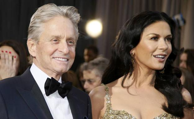 Michael Douglas y su esposa, Catherine Zeta-Jones./Reuters