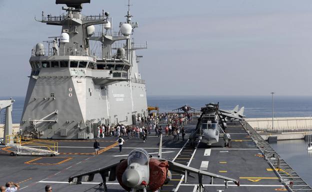 El 'Juan Carlos I', buque insignia de la Armada española./E.C.