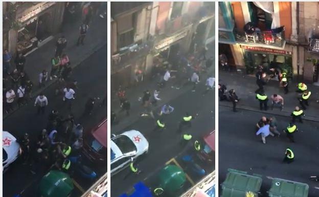 La Policía carga en San Francisco al sentirse acorralada cuando trataba de identificar a varias personas