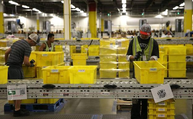 Almacén de Amazon en California (EE UU). /R. C.
