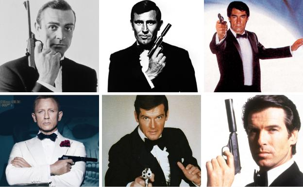 Varios actores que han encarnado a James Bond. /R. C.