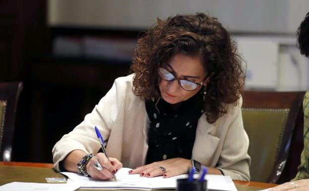La ministra de Hacienda en funciones, María Jesús Montero./Efe
