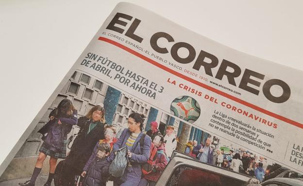 EL CORREO mantiene su compromiso con los lectores y distribuye hoy su edición impresa