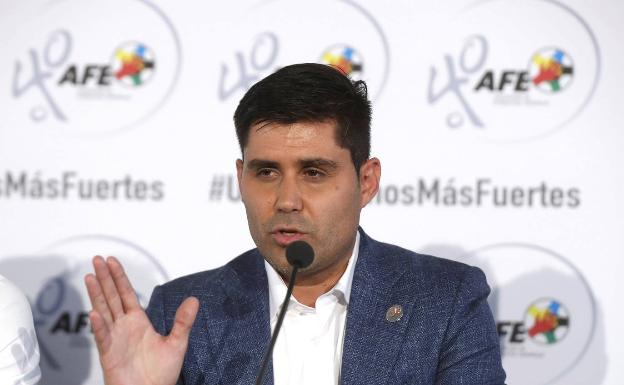 David Aganzo, president of the footballers union.