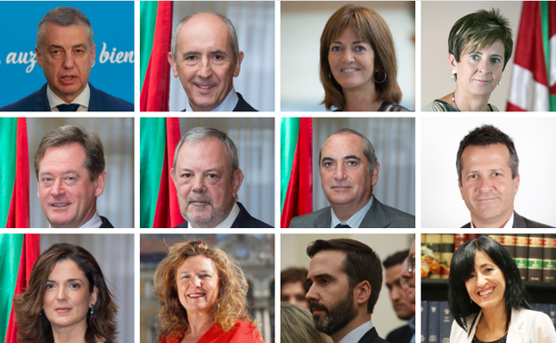 Los once consejeros del nuevo Gobierno vasco uno a uno