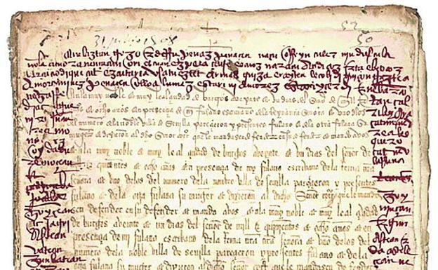 El primer poema de amor en euskera se escondía en un árido documento notarial | El Correo