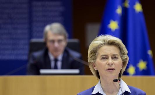 Ursula von der Leyen, presidenta de la Comisión Europea. /AFP