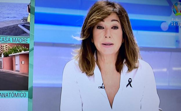 Ana Rosa Quintana wears the tie of mourning after confirming the death of one of the girls from Tenerife.
