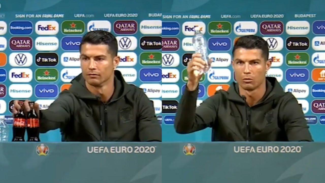 Cristiano Ronaldo siembra la polémica contra Coca-Cola: «Agua, Coca-Cola no» | El Correo