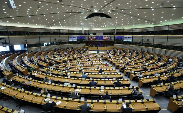 Plenary of the European Parliament.