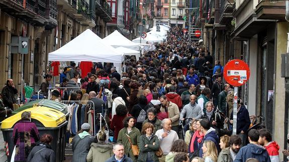 Bilbao La Vieja revive esta mañana su rastro del 2 de mayo
