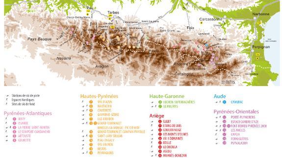 Estaciones De Esqui Mapa.Esqui Pirineo Frances 2016 2017 Fechas De Apertura Precios De Forfaits Y Novedades De Las Estaciones El Correo